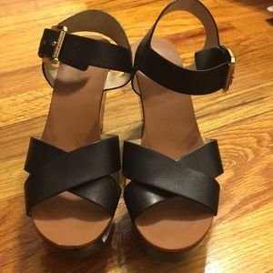 Lightly worn Michael Kors platform heels